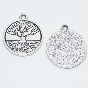 "Antiksilverfärgad berlock ""Tree of Life"" 20 mm"
