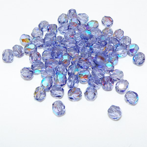 "Fire polish 4 mm facetterad ""Tanzanite AB"""