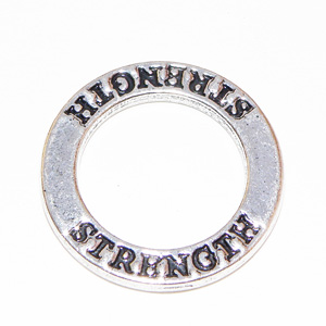 "Tibetsilver affirmationsring ""Strenght"" 23 mm"