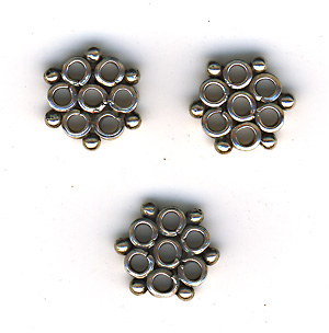 Sterling silver connector snöflinga 13 mm