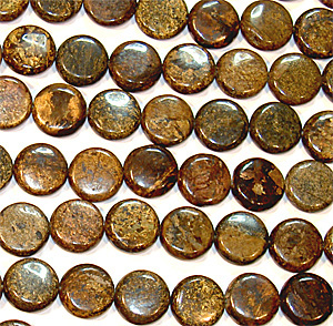 Bronzit puffy coin 12 mm